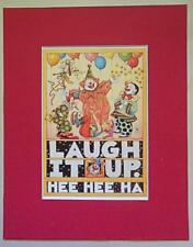 "Mary Engelbreit Print Matted 8 x 10 ""Laugh It Up"""