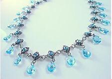 LIA SOPHIA JEWELRY Aqua Blue Choker Necklace