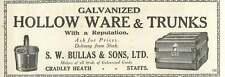 1926 Sw Bullas Cradley Heath Staffs Trunks Old Advert