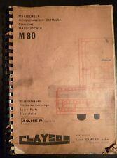 Clayson Mähdrescher M80 Ersatzteilliste