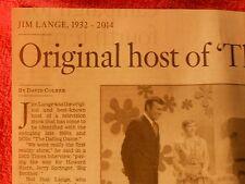 1932-2014 JIM LANGE OBITUARY ORIGINAL HOST OF THE DATING GAME