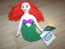 Disney Store The Little Mermaid Ariel Plush Bean Bag Doll New Tags Late 90's