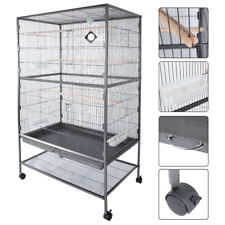 "60"" Large Bird Cage Parrot Finch Macaw Cockatoo Canary Pet Supplies Perch Grate"