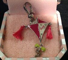 NIB Juicy Couture New Genuine Rare Silver Kite Charm Pink Tassels YJRU3610