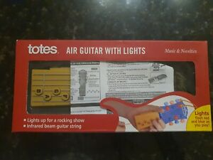 Totes Inspire Music Portable Air Guitar w/ Infrared Guitar Strings Band Toy
