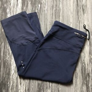 NIKE Epic Lux Running Knee Length Crops Navy Blue L Large