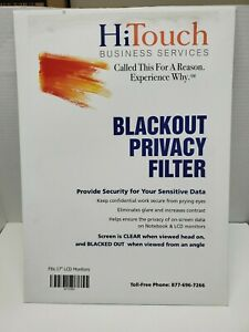 """HiTouch 17"""" Monitor Blackout Privacy Filter Black - FITS 17"""" LCD MONITORS"""