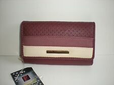 STYLISH FABRETTI PURSE WITH FRONT FLAP AND ZIP ROUND COIN SECTION  (33616)
