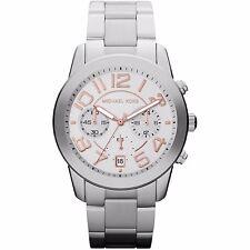 Michael Kors Women Mercer Silver Rose Two Tone Dial Silver Bracelet Watch MK5725