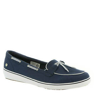 NEW - GRASSHOPPERS Women's 'WINDSOR' Navy Blue MEMORY DELUXE BOAT SHOES - 12