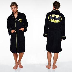 Mens Batman Dressing Gown / Bat man Bathrobe (bath robe adult nightwear pyjamas)