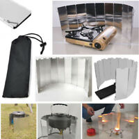 10Pcs Foldable 9 Plates Gas Stove Wind Screen Set For Outdoor Camp Picnic Cooker