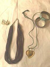 Jewelry Purple Beaded Necklace Bracelets India Boho Style Iridescent style