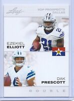 "EZEKIEL ELLIOTT & DAK PRESCOTT 2016 LEAF ""1ST EVER PRINTED"" COWBOYS ROOKIE CARD!"