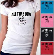 Hip Length Skull Plus Size T-Shirts for Women