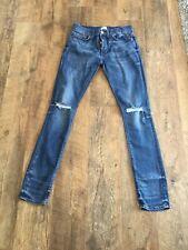 Men's River Island Ripped Skinny Jeans 28/34