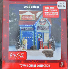 Coca Cola Town Square Collection Flying A Service Station Village 2005 NIN