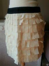 J Crew 100% silk Unique Pearl colored skirt, NWOT, Sz 8 - $155