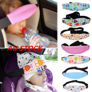Kids Head Rest Support Pad Pillow Baby Headrest Sleeping Car Seat Support Strap