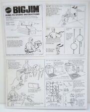 1974 Big Jim Kung Fu Studio Instruction Sheet - Copy, Laminated