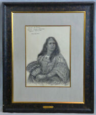 Henry Herman Cross Portrait of Sister of Ouray Squaw Susan Johnson Indian