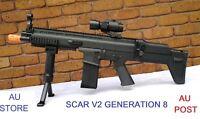 Gel Gun Black Gel Blaster Jinming Gen8 SCAR V2 Magazine Fed Automatic Adult Size