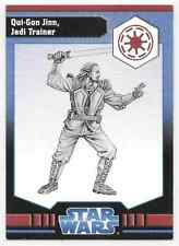 2009 Star Wars Miniatures Ja Qui-Gon Jinn, Jedi Trainer Stat Card Only