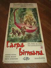 LOCANDINA,1958,L'ARPA BIRMANA,Biruma no tategoto,Kon Ichikawa,Mikuni,Hamamura