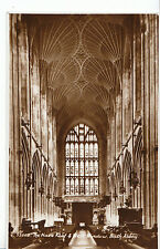Somerset Postcard - The Nave - Roof & West Window - Bath Abbey - RP   ZZ2713