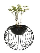 Metall Pflanztopf, Pflanzschale, Blumentopf, Dekoschale, Größe S, schwarz, rund