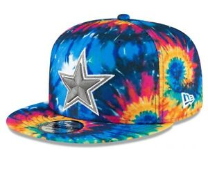 New 2020 NFL Dallas Cowboys Multi-Color Crucial Catch Tie Dye Hat Cap Prescott