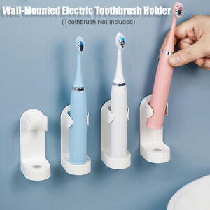 1/2 X Bathroom Self adhesive Wall Mounted White Electric Toothbrush Holder Base
