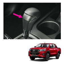 Leather Gear Knob Automatic Black Carbon Fits Toyota Hilux Revo Rocco 2015 2019
