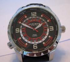 Akribos Men's XXIV 'Globetrotter' World Timer Watch