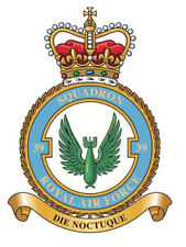 RAF 39 SQUADRON BADGE ON METAL SIGN 5 x 7 INCHES. FITS STANDARD FRAME. ALUMINIUM