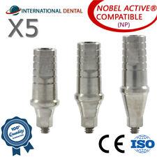 5 Standard Shoulder Abutment Np For Nobel Biocare Active Hex Dental Implant
