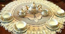 "New listing Antique Gold Mitterteich Bavaria ""Rosella"" Tea Set"
