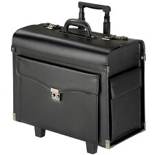 Pilot case trolley valise mallette de pilote sac à roulettes poignée noir