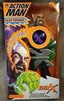 Action Man Electronic Dr. X Actionfigur mit Lachgeräusch - Hasbro 1998 - Neu Ovp