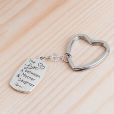 Family Love Mum & Daughter Letter Heart Key Ring Keychain Gift to Mother Eyeful