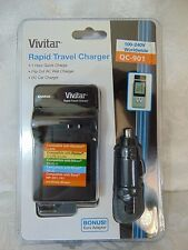Vivitar Rapid Travel Charger QC-901  1 HOUR! SEALED