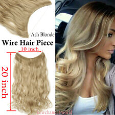 100% Natural Secret Headband Wire in Hair Extensions Long Hair piece Ash blonde