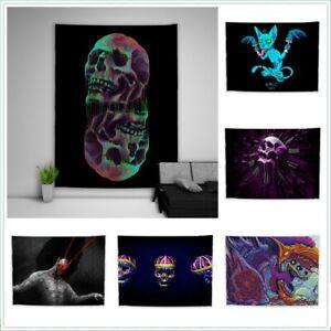 Skull Bone Horror Trippy Tapestry Wall Art Poster Hanging Sofa Table Cover