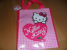 Sanrio Hello Kitty pink heart print tote bag  10 by 12  1/4 inches
