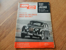 das Auto Motor und Sport * Heft 9 * April 1960 * Test Jaguar MK II / Fiat Abarth