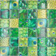 Glasmosaik Mosaikfliesen Grün Dschungel Dusche Bad Fliesenspiegel | 10 Matten