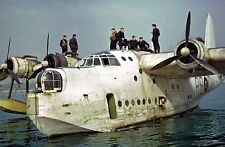 WW2  Photo WWII RAF Short Sunderland Flying Boat in Action World War Two /5203