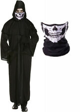 Grim Reaper Scream Halloween Death Robe Fancy Dress Costume + Skull Mask