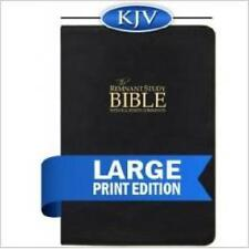 Remnant Study Bible KJV Large Print (Genuine Top-grain Leather Black)
