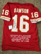 (SSG) Rare LEN DAWSON Signed Kansas City Chiefs Stat Jersey - PSA/DNA & JSA COA